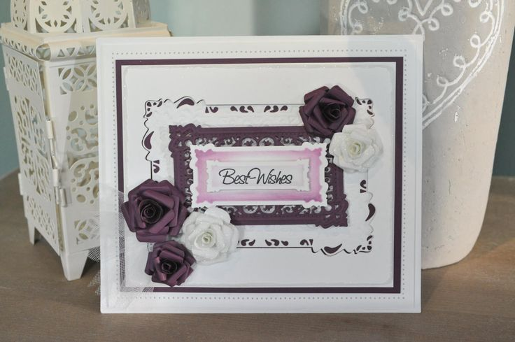 Card made with Sue Wilson's dies
