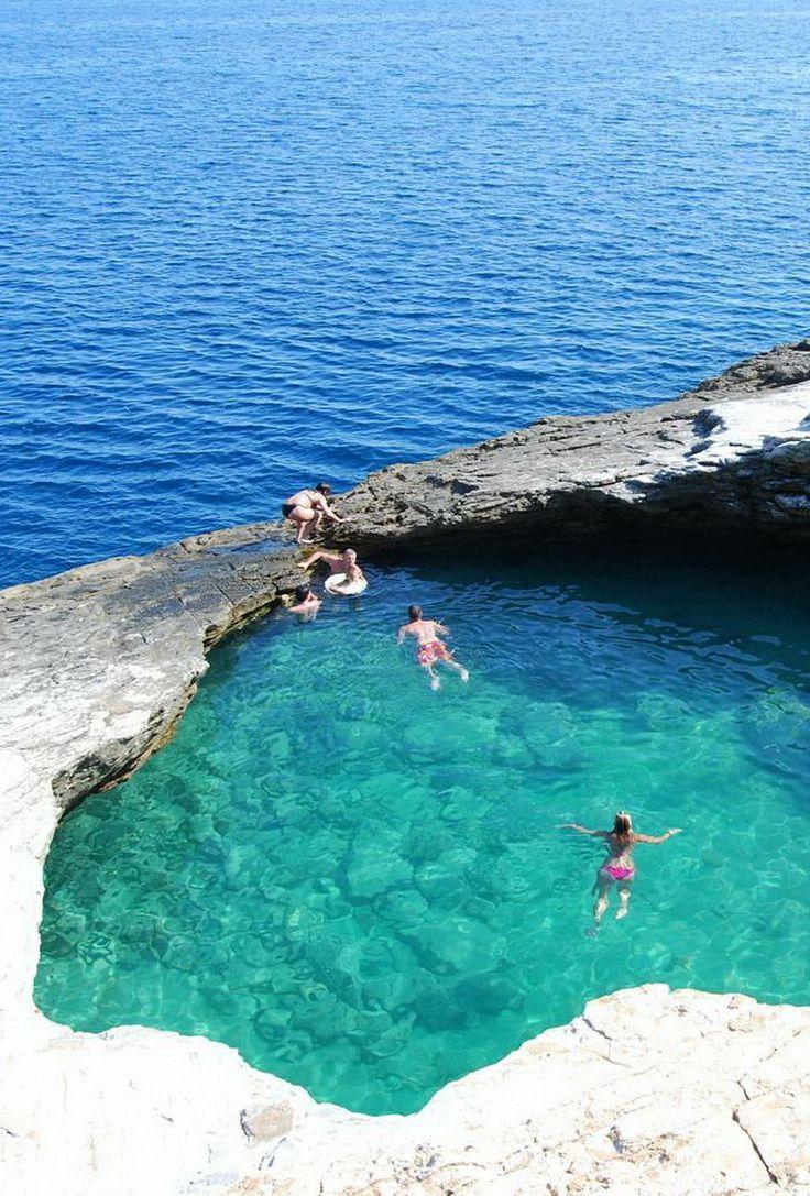 Giola Lagoon, a natural pool on Thassos, Greece.