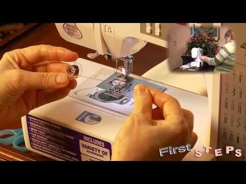 FIRST STEPS with Brother CE8080PRW Computerized Sewing Machine - YouTube