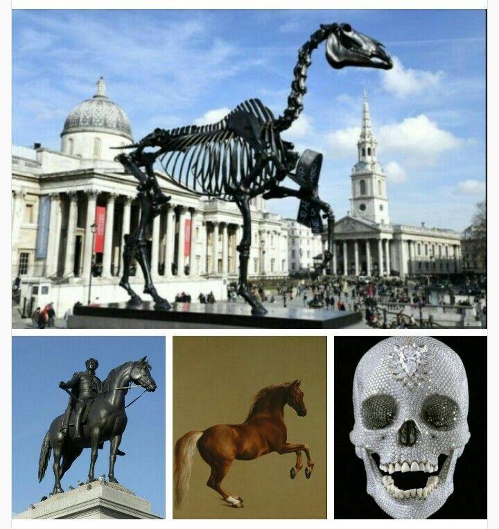 'Gift horse' de Hans Haacke en Trafalgar Square. Homenajes e influencias: elperrodepicasso.blogspot.com.es