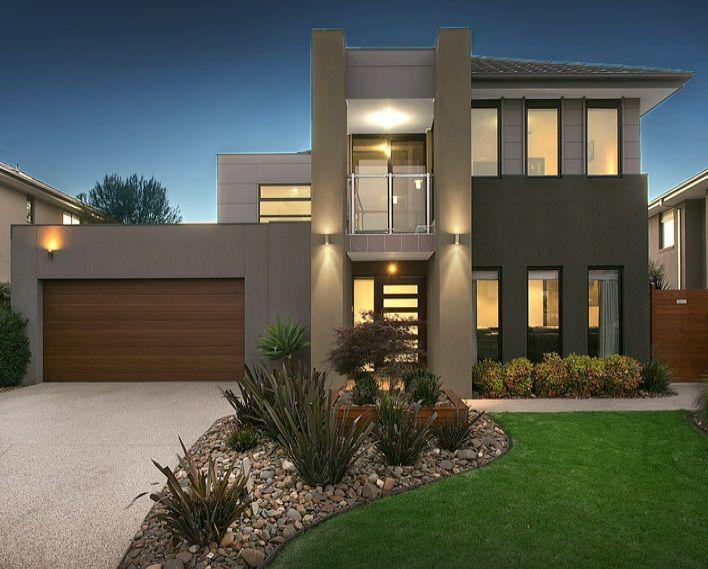 Dise o de fachadas de casas minimalistas profesionales for Casa moderna 9 mirote y blancana