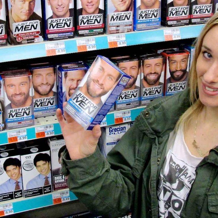 darker eyebrows with inexpensive mustache dye.