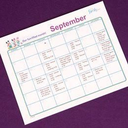 Free Disney Printable Calendar Sheet