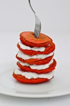 Healthy Red Velvet Pancakes- A delicious spin on the infamous Red Velvet Cake- with hidden veggies, high in protein, fiber, sugar free and gluten free!