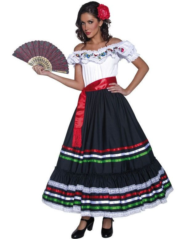 17 best ideas about Mexican Costume on Pinterest | Mexican dresses ...