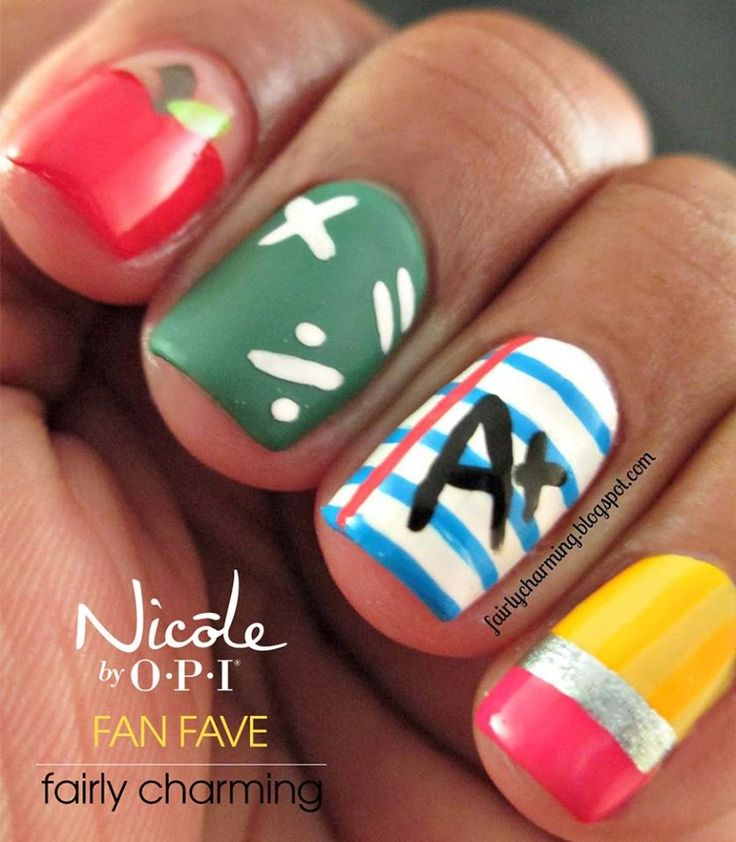 Back to School nails which are adorable