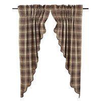 Dawson Star Scalloped Prairie Curtain Lined Set-2 63x36x18