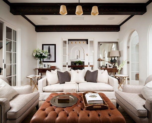Ok time to move on to my living room. Posted some of my inspiration pics and a… A STUNNING & BEAUTIFULLY DECORATED ROOM!! - LOVE THE GLORIOUS LEATHER, BUTTONED POUFFE!! - LOOKS AWESOME#️⃣