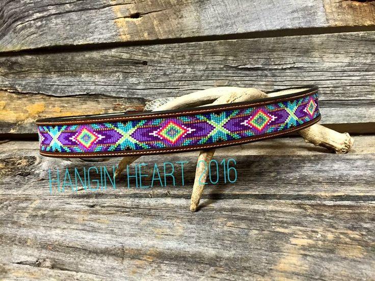 Hangin' Heart Beadwork. Beaded Aztec