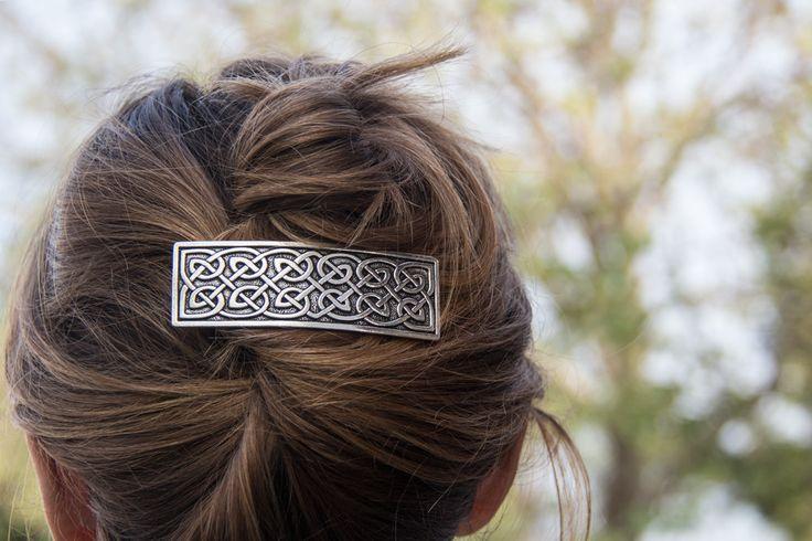 Hair Clip | Barrette | Hair Accessory | Large Celtic 80mm | Oberon Design