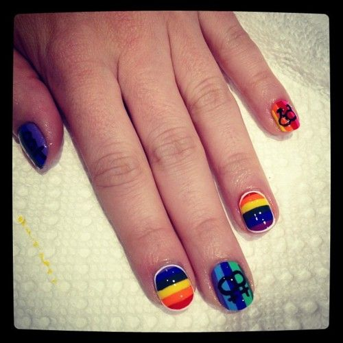 Pride Nail Designs: 41 Best Images About PRIDE Manicures On Pinterest