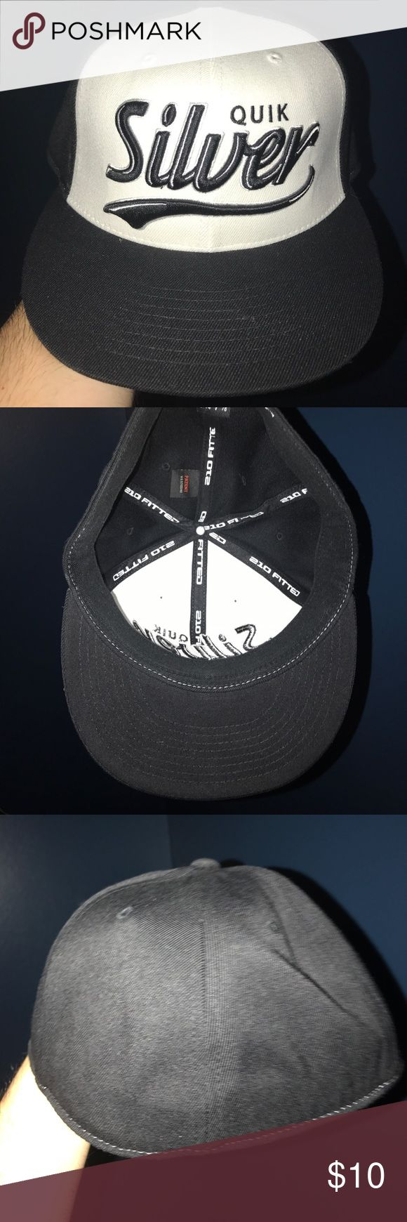 Quiksilver hat one size 1sz, no tags. Quiksilver hat one size 1sz, no tags.  Doesn't appear to be worn.  Will fit a medium to large head.  Not a flex cap but no size listed. Accessories Hats