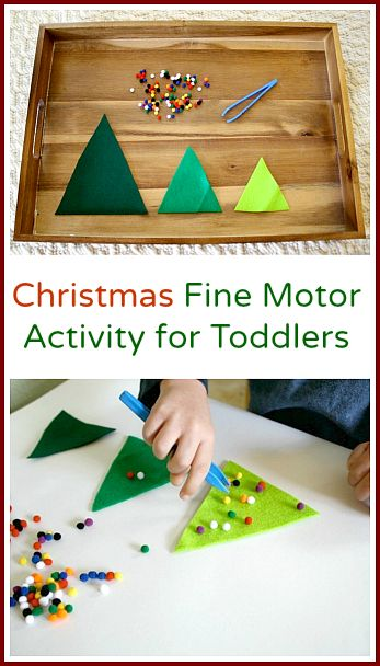 Toddler Christmas Activity: Decorate the Felt Christmas Trees - Buggy and Buddy