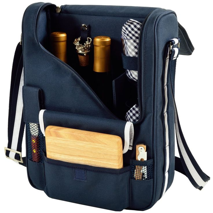 Picnic at Ascot Wine and Cheese Cooler Bag Already Equipped Best Offer. Best price Picnic at Ascot Wine and Cheese Cooler Bag Equipped for 2 with Glasses, Napkins, Cutting Board, Corkscrew, etc. - Navy. Picnic at Ascot Wine and Cheese Cooler Bag #picnic #Wine #Cheese #CoolerBag