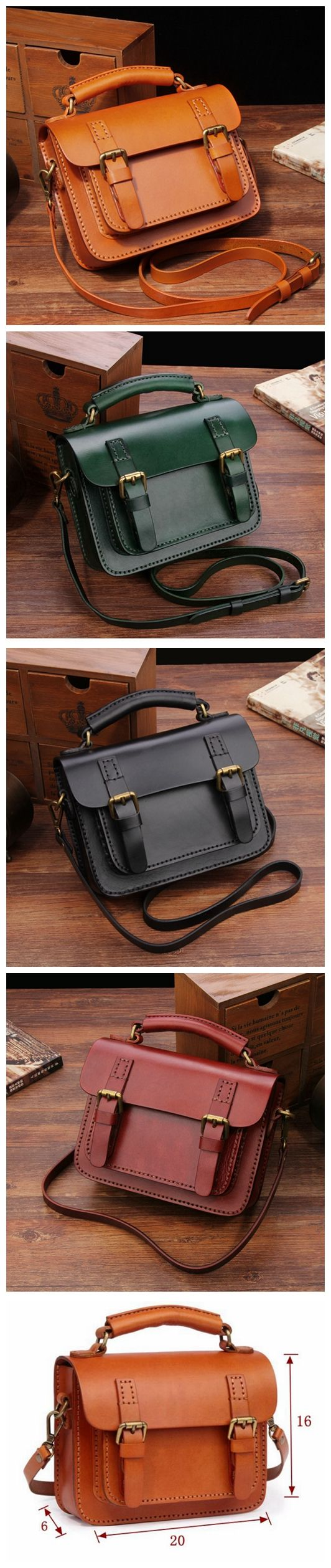 Handcrafted Leather Messenger Women's Fashion Bag Handbag Leather Shoulder Bag 14084