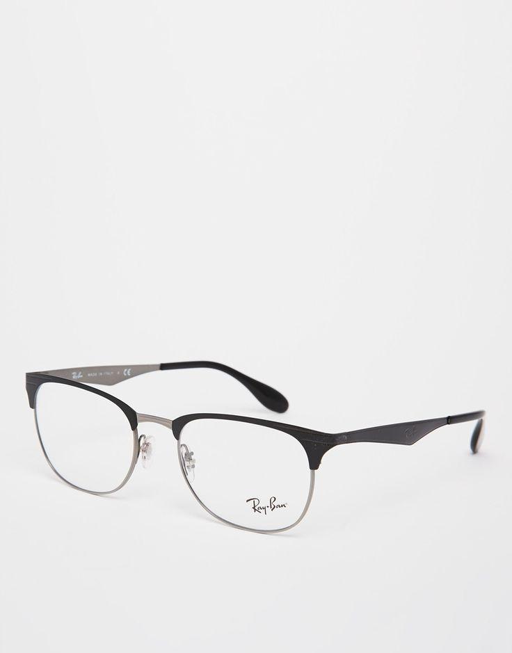 Sonnenbrille von Ray-Ban eckiger Rahmen und Logonieten verstellbare Nasenpolster aus Silikon für besonderen Komfort klare Gläser logoverzierte Bügel mit abgerundeten Enden für sicheren Halt Hinweis: Gläser sind bedruckt und Gestelle sind zur Verwendung mit Sehstärke gedacht. 100% Kunststoff