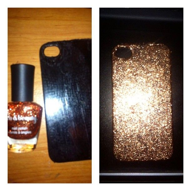 A little #diy project inspired by @claralinegar!! Forever 21 Glitter Polish in Rust! #blingbling