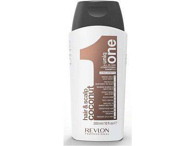 Voici en un seul shampoing 10 atouts réunis ! C'est le shampooing conditionneur Uniq One par Revlon qui prend soin des cheveux et du cuir chevelu. Avec sa