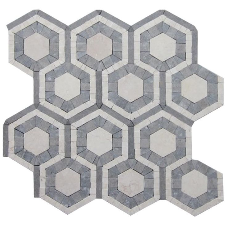 Shop For Cosmos Egypt Beige And Lagos Azul Hexagon Marble