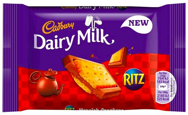 Cadbury chocolate with Ritz biscuits! I need this in my life!!!