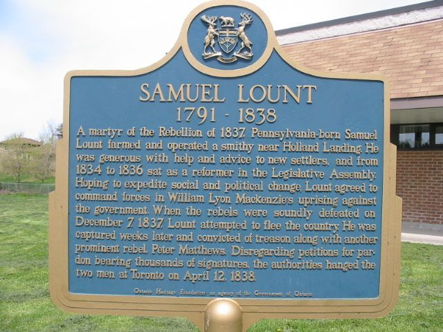 Facts in Fiction: Samuel Lount