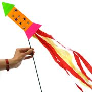 Photo of a crafted rocket for bonfire night