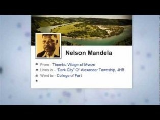 A brief history of Nelson Mandela as told through Facebook, Twitter, Instagram and Foursquare.