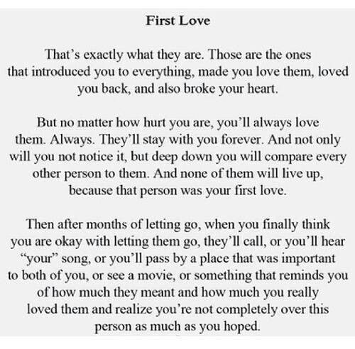 First Love and first heartbreak