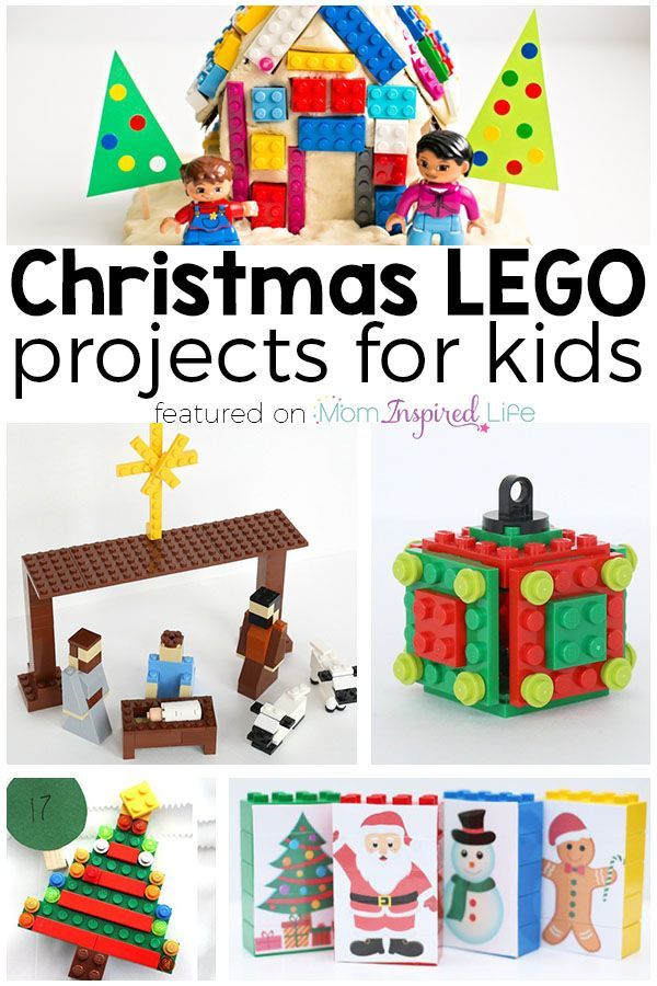 LEGO Christmas projects for kids. LEGO ornaments, LEGO crafts, LEGO advent activities and more!