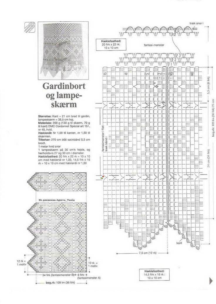 420 best Δαντέλες - Κουρτίνες images on Pinterest Crochet - lampe für küche