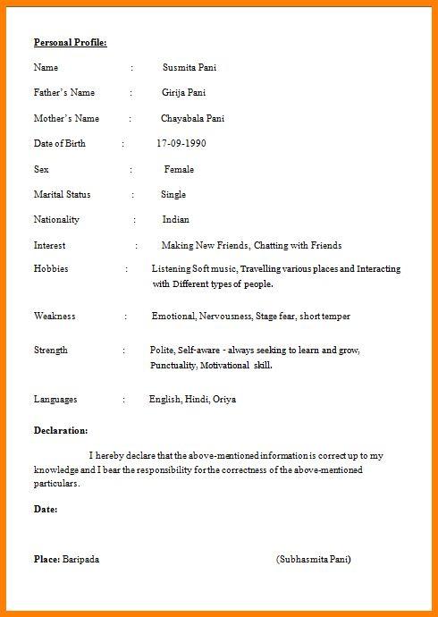 basic resume samples in word