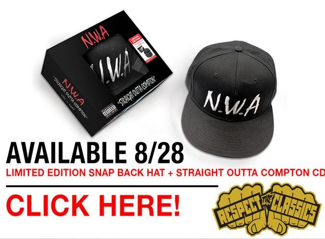 Get the N.W.A hat and Straight Outta Compton CD bundle here: http://www.myplaydirect.com/respect-the-classics/n-w-a-straight-outta-compton-hat-bundle/details/117535720?feature-name=nwa&feature=117485892