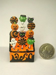 Halloween Lollipop Display By IGMA Artisan Teresa Summers | eBay
