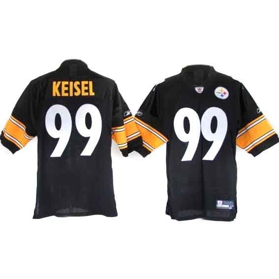 89ce58e82fb nike pittsburgh steelers 99 brett keisel black impact limited jersey