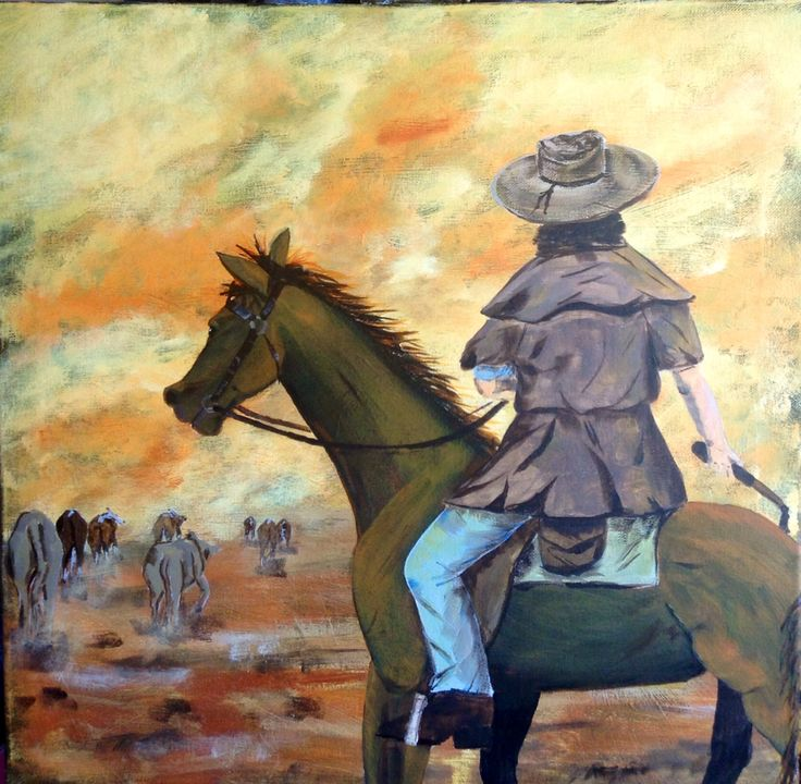The dusty trail home ! By Belinda Laurie