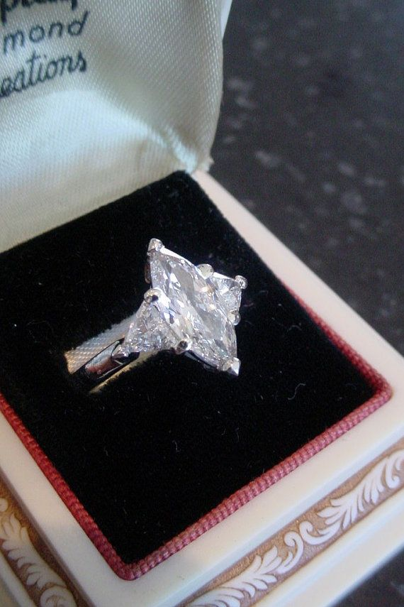 Breathtaking Flawless Marquise Cut Diamond Platinum by grabsbag
