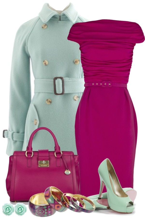mint and magenta, who knew?   work appropriate to a social/networking/date