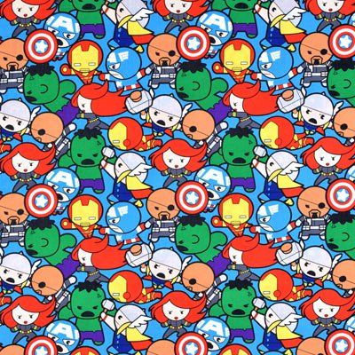 Springs Creative Marvel Kawaii All In The Pack Fabric