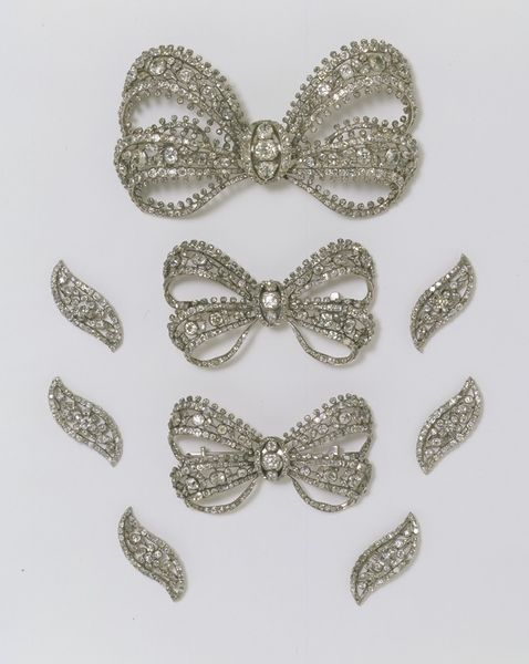 Bodice ornament, ca.1760, Russia (possibly made). Brilliant-cut diamonds set in silver. These brooches would have been worn together: the largest on the bodice front, the smaller ones on the shoulders. V&A:
