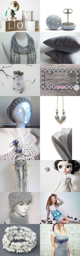 #61, a beautiful grey-themed treasury that we're featured in. #drakestail