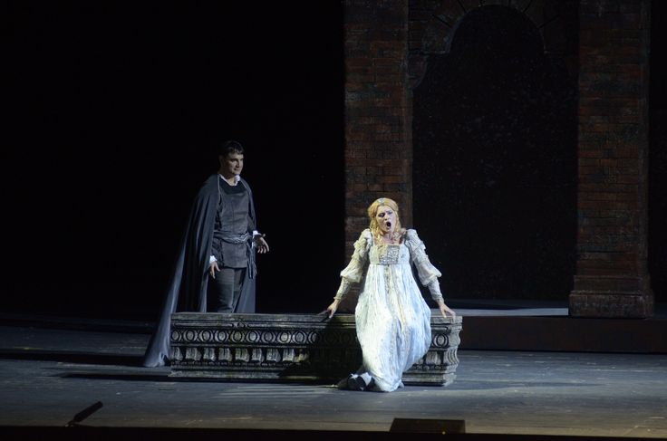 Gilda (Ekaterina Bakanova) singing her love for the poor student Gualtier Maldé (in reality the Duke of Mantua, Francesco Demuro).