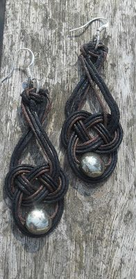 como hacer paso a paso unos pendientes de nudo celta