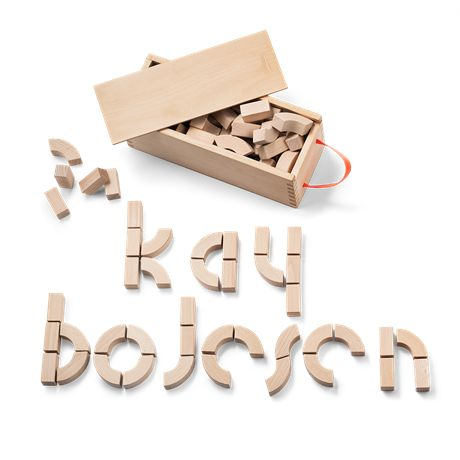 Alphabet blocks by Kay Bojesen. Toys that teach younger children to play and spell. Gift idea that goes from generation to generation. Buy online. Fast delivery.