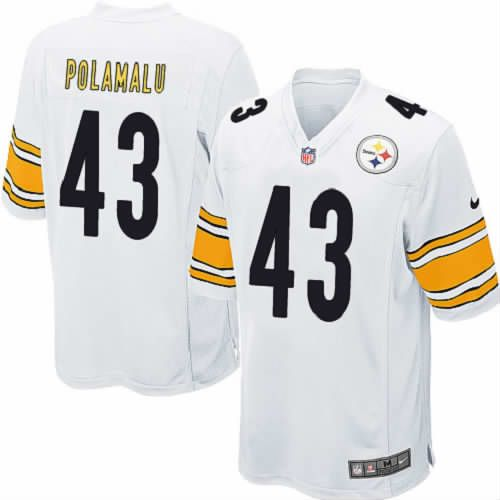 Nike #43 Troy Polamalu White Youth Limited Pittsburgh Steelers NFL Jersey Sale