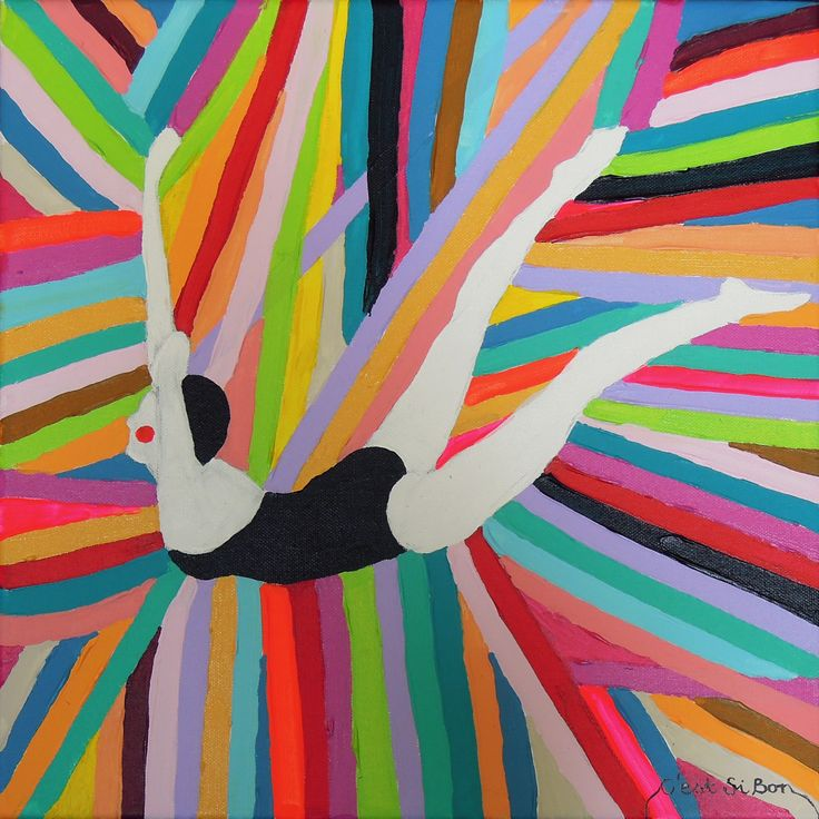 C'est Si Bon / acrylic on canvas / 40 x 40 cm