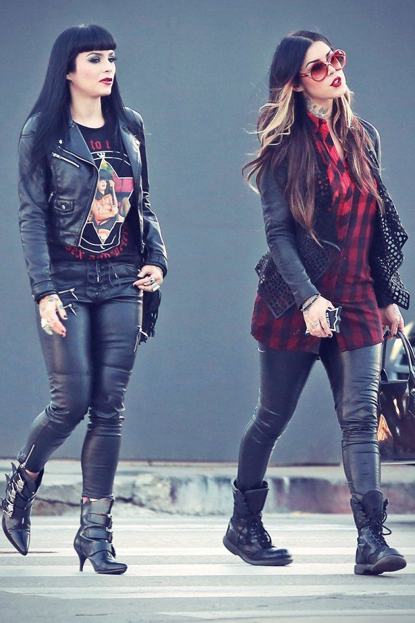 Ok I like this Rocker Chic look.... BUT.... Their pants are way to tight on them. It makes them look heavier then they are!!!