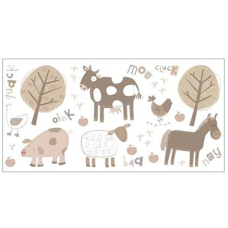 Farm Neutral Wall Stickers - Farm Animal Wall Decals