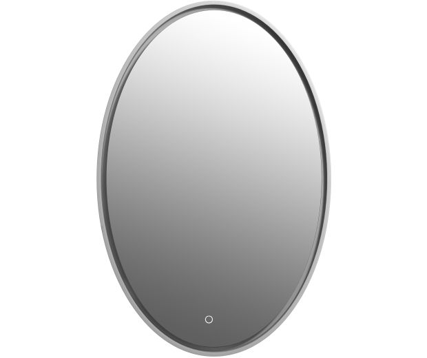 580mm Oval Mirror with Touch Sensor Integrated LED Lighting