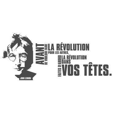 Stickers citation John Lennon la révolution
