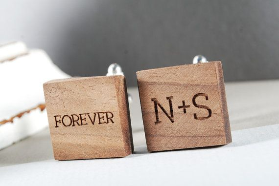 TOGETHER cuflinks personalized ready to give gift by MoodForWood